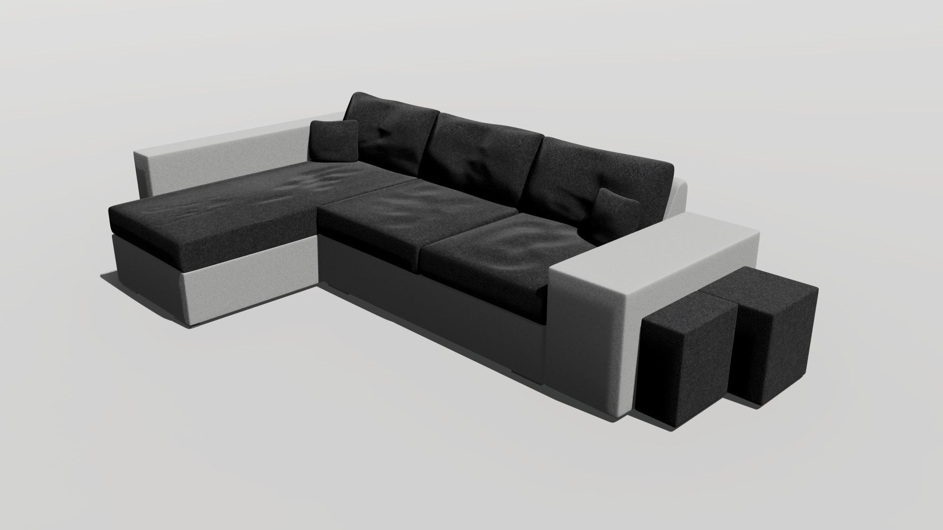 Sofa Salon Xtd6 fortable Corner sofa Livingroom 3d Model