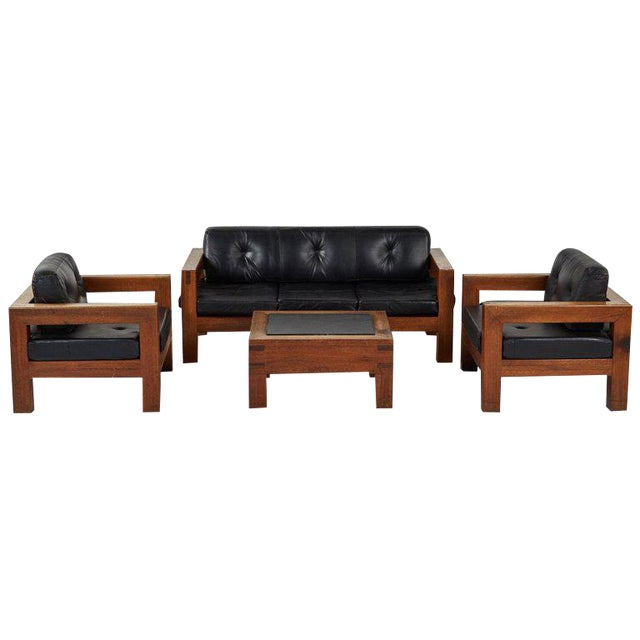 Sofa Salon Zwdg Mid Century Modern sofa Chairs and Coffee Table Salon Set 4 Pc Set