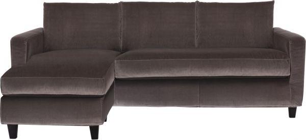Sofa Terciopelo 87dx Chester sofà S sofà De Esquina Gris Ratà N Terciopelo Habitat