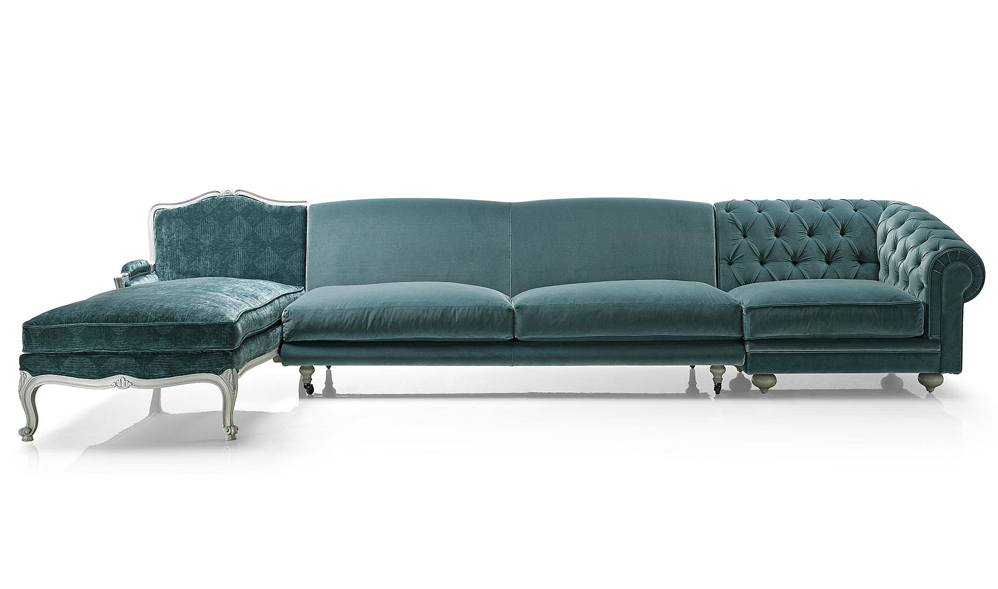 Sofa Terciopelo U3dh sofà Collage Modular 3 Piezas Chester Terciopelo En Portobellostreet