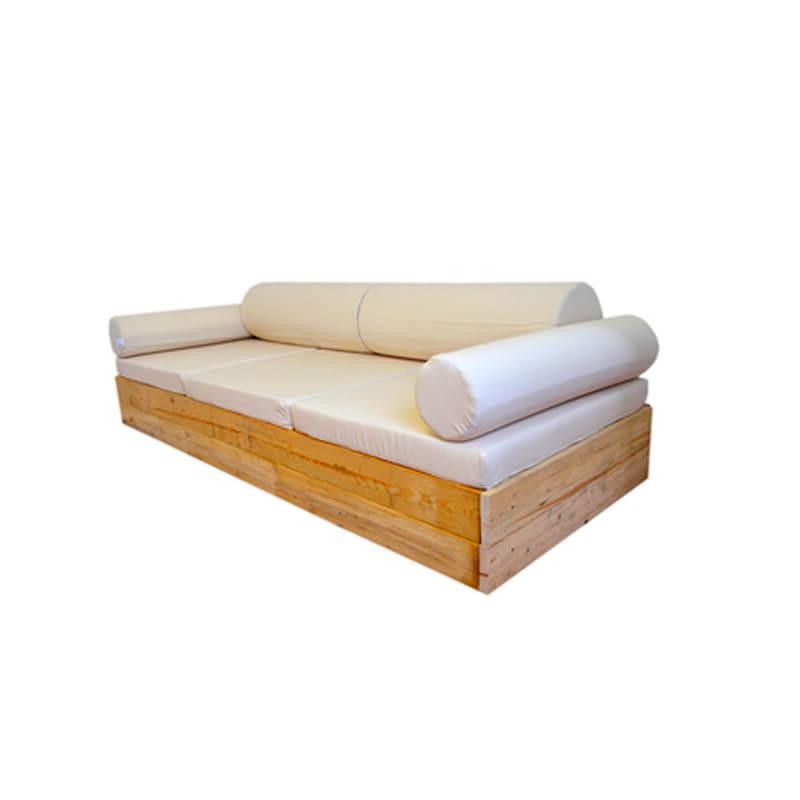 Sofa Terraza Tqd3 sofà Balinesa Para Terraza Con Cojines Blanco Roto Decopale