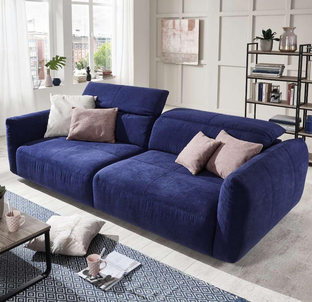 Sofa Xxl Budm sofà Xxl De Tela Nube Azul Conforama
