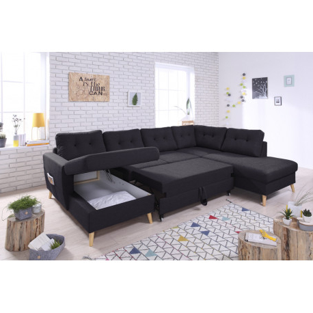 Sofa Xxl Dddy sofa Panoramic Convertible Xxl with Storage Scandi Bobochic Â