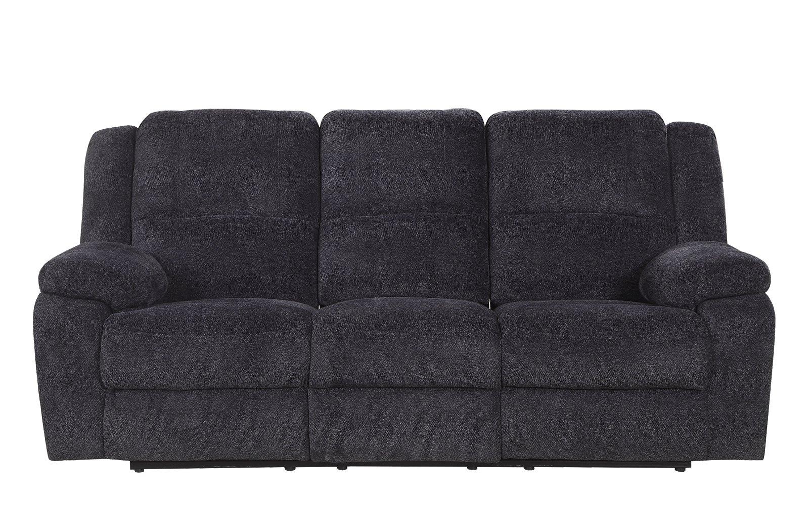 Sofas asturias Dwdk asturias Traditional Classic Microfiber Double Recliner sofa