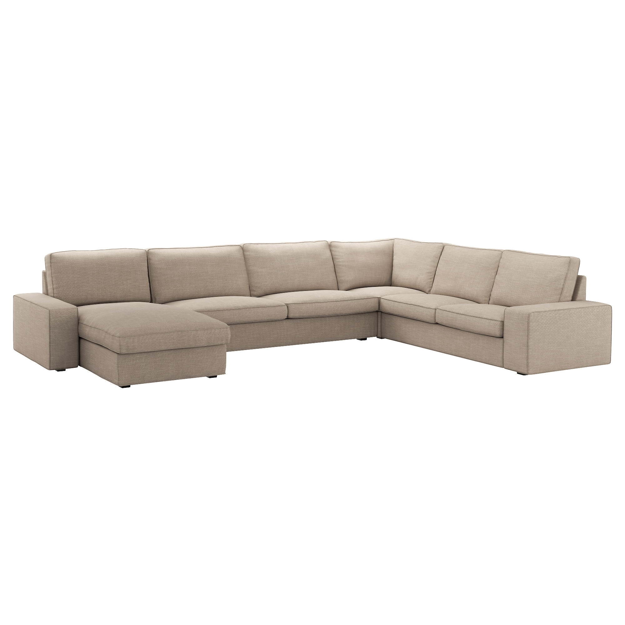 Sofas Beige 9ddf Kivik sofa 6 Seats with Chaise Longue with Hillared Beige Cover