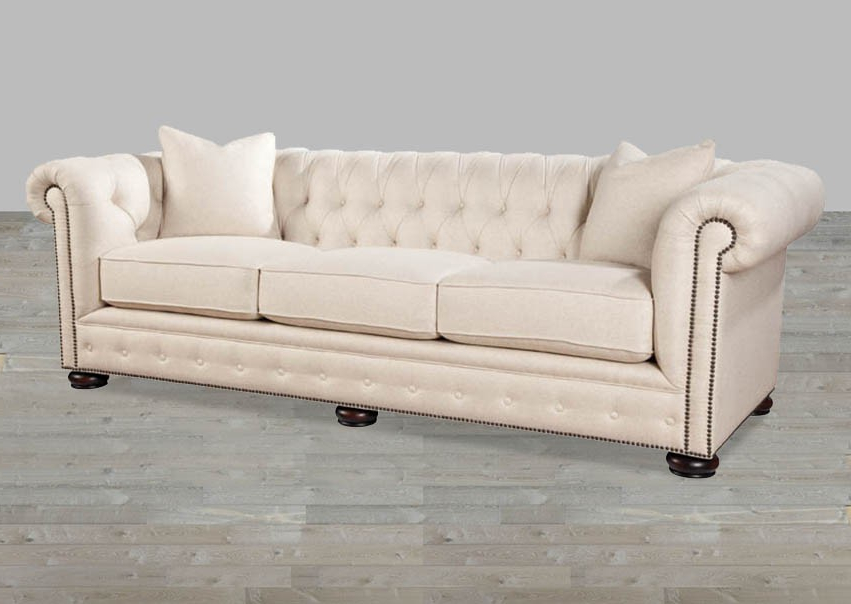 Sofas Beige Ftd8 Beige Linen Chesterfield Style sofa