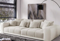 Sofas Beige O2d5 Big sofa Valeska 310×135 Cm Grau Cremeweiss Beige 12 Kissen MÃ Bel