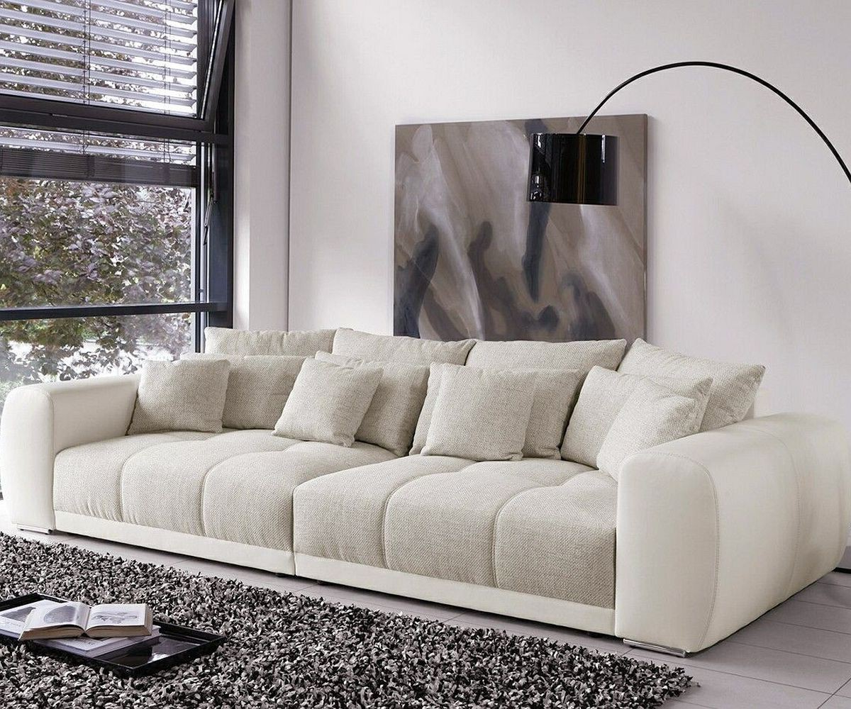 Sofas Beige O2d5 Big sofa Valeska 310x135 Cm Grau Cremeweiss Beige 12 Kissen MÃ Bel