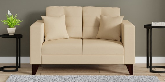 Sofas Beige T8dj Alfredo Two Seater sofa In Beige Colour by Casacraft Online