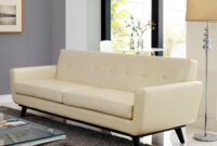 Sofas Beige T8dj Modway Engage Beige Bonded Leather sofa Eei 1338 Bei the Home Depot