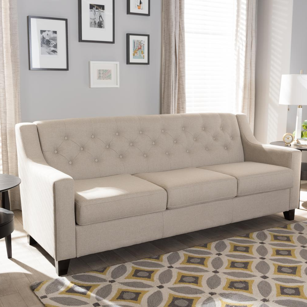 Sofas Beige Xtd6 Baxton Studio Arcadia Contemporary Light Beige Fabric Upholstered