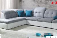 Sofas Bilbao Zwd9 New Fabric Leather Corner sofa Bilbao White Grey Brow Black 2 3