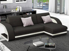Sofas Bonitos S1du Muebles Bonitos Hilda sofa Bed with Chaise Longue Black