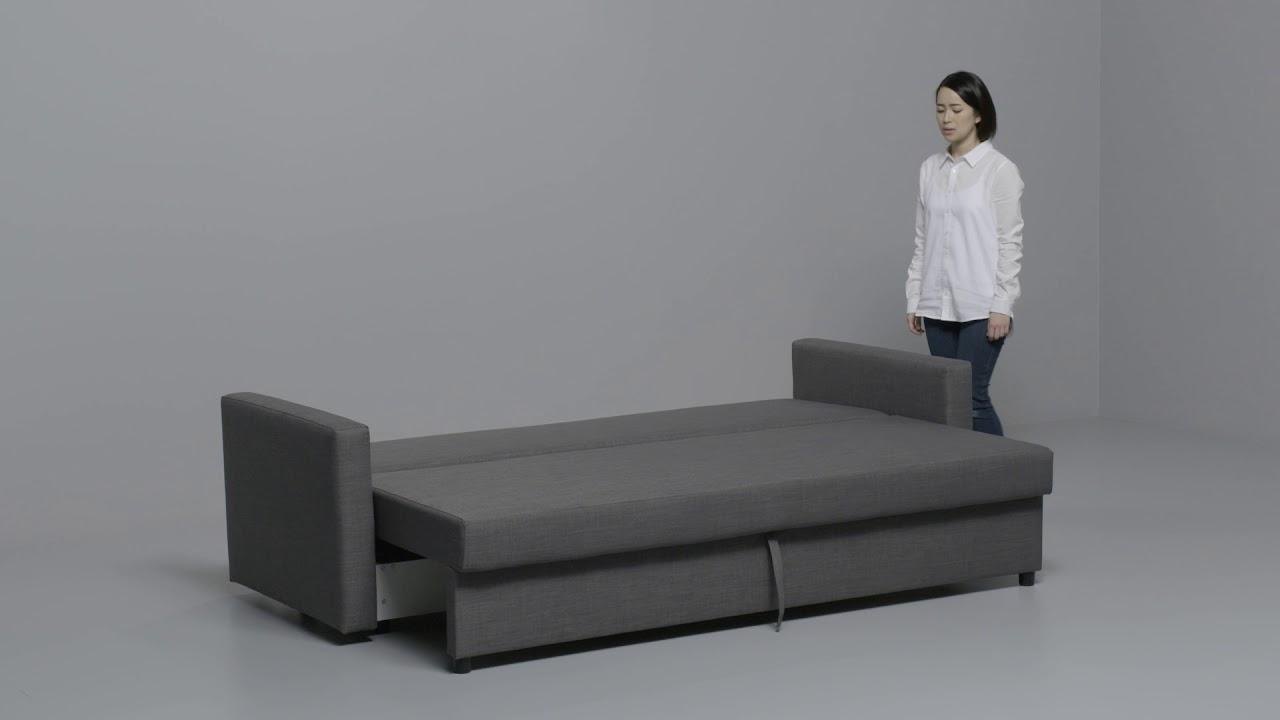 Sofas Cama Ikea 2017 Xtd6 Ikea Friheten Convertible 3 Places Youtube