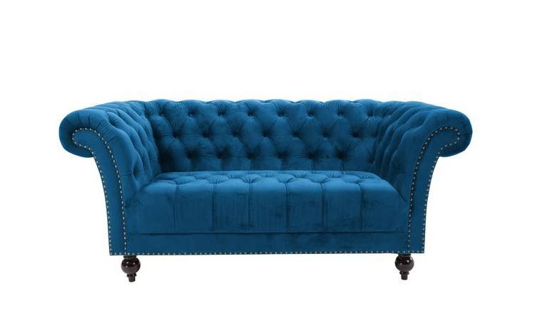 Sofas Chester U3dh Birlea Chester 2 Seater Fabric sofa Blue sofas Argos
