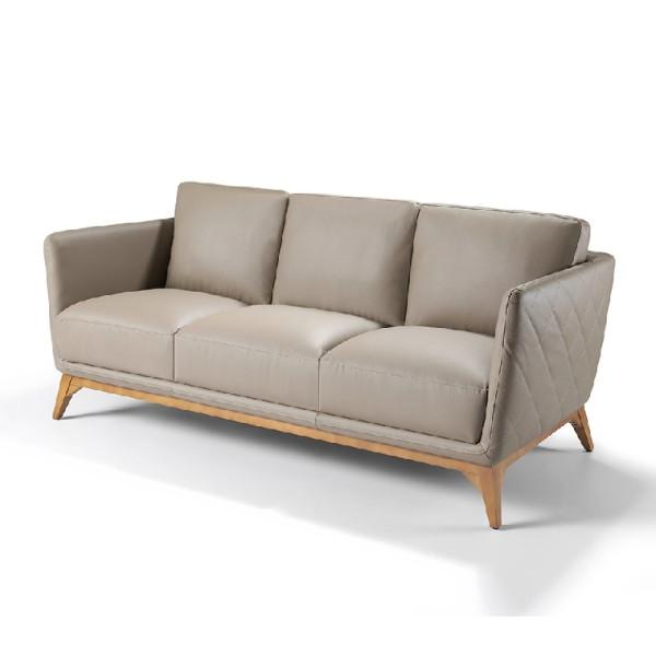 Sofas Con Patas Altas Etdg 1961 3p sofà De Diseà O Nà Rdico 221 En Piel Y Patas De Madera