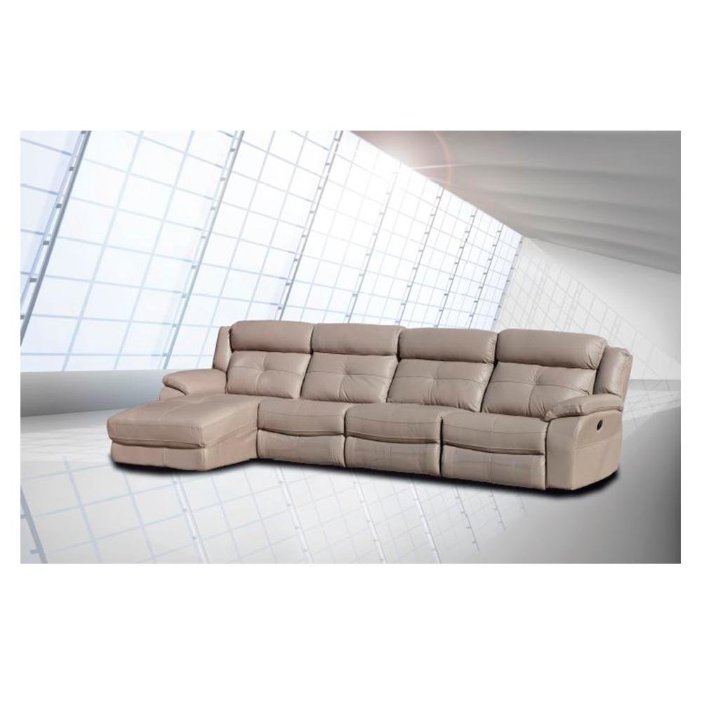 Sofas De 4 Plazas Gdd0 sofà 4 Plazas Con Elà Ctricos Y Cheslong Boston Piel Canalhome