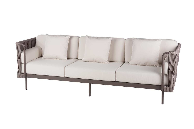 Sofas De Exterior J7do Outdoor sofa 3 Seaters Weave Point
