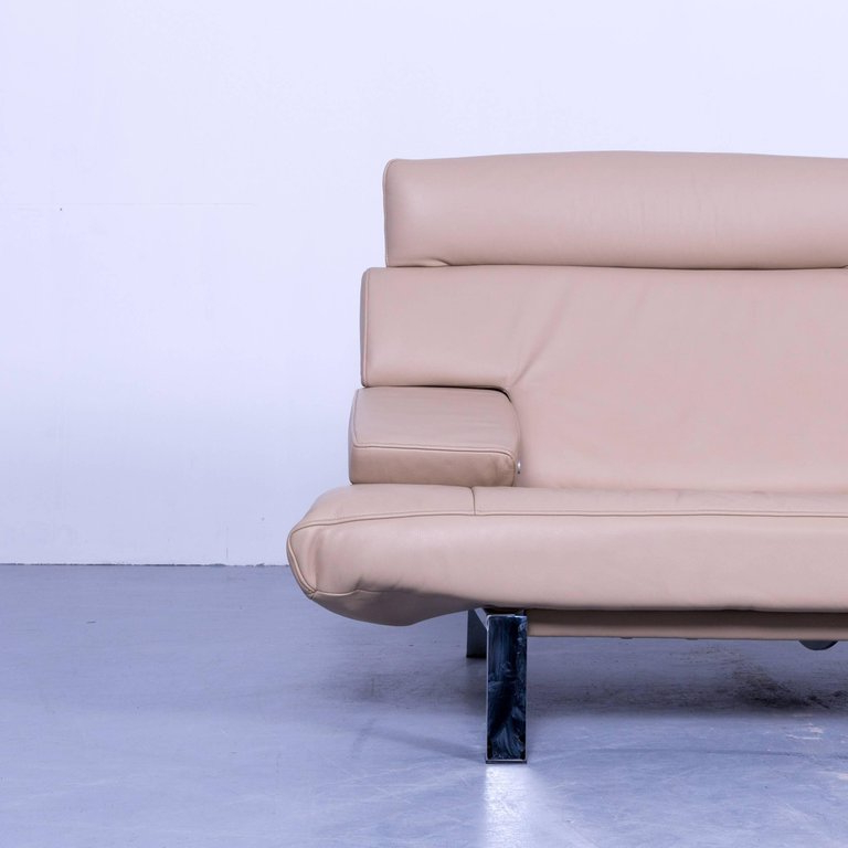 Sofas De Relax 3id6 De Sede Ds 451 Designer sofa Leather Crà Me Beige Relax Function Two