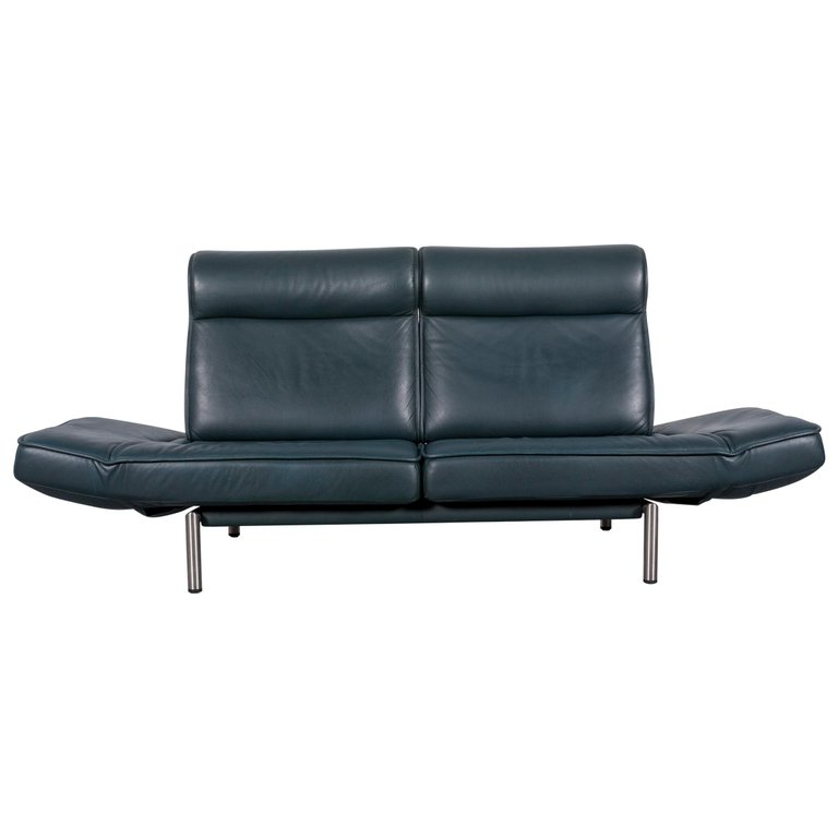 Sofas De Relax Thdr Cognac Leather De Sede sofa with Adjustable Relax System for Sale at