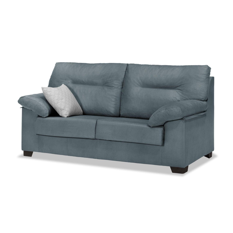 Sofas De Tres Plazas Baratos Qwdq sofà 3 Plazas Gris Azulado 180 Cm