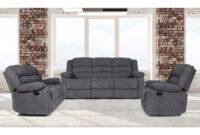 Sofas De Tres Plazas Budm Conjunto sofà S 3 2 Plazas Relax Modelo Ottawa Color Gris Mubeko