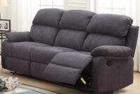 Sofas De Tres Plazas Q0d4 sofà 3 Plazas Con asientos Relax Manual Tapizado Tela Gris Centro