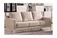 Sofas De Tres Plazas Q0d4 sofà Tres Plazas Tapizado En Tela Color Beige
