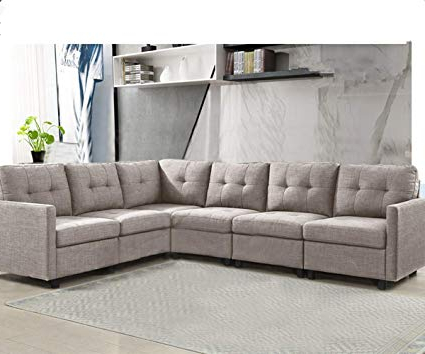 Sofas En Amazon Zwd9 6 Piece Modular Sectional sofas L Shape Living Room