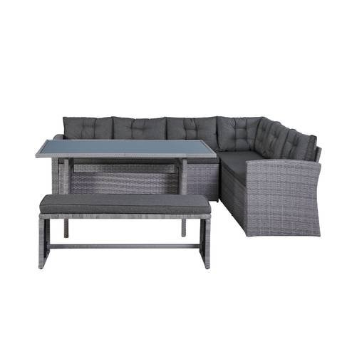 Sofas En Carrefour Nkde Wicker Corner sofa Set 4 Person