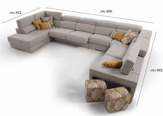 Sofas En forma De U Gdd0 sofà Rinconera Chaiselongue En forma De U 329x202x185