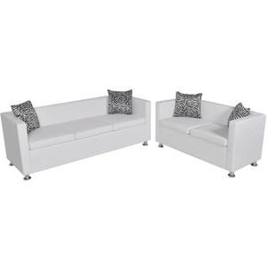 Sofas En Ikea Precios 3id6 Vidaxl Set De Dos sofà S De Cuero Artificial Blancos De 2 Plazas Y De 3 Plazas