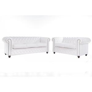 Sofas En Ikea Precios 9fdy the Chesterfield Brand Conjunto sofà S Chester Blanco 2 3 Plazas Hecho Artesanal En Cuero Natural