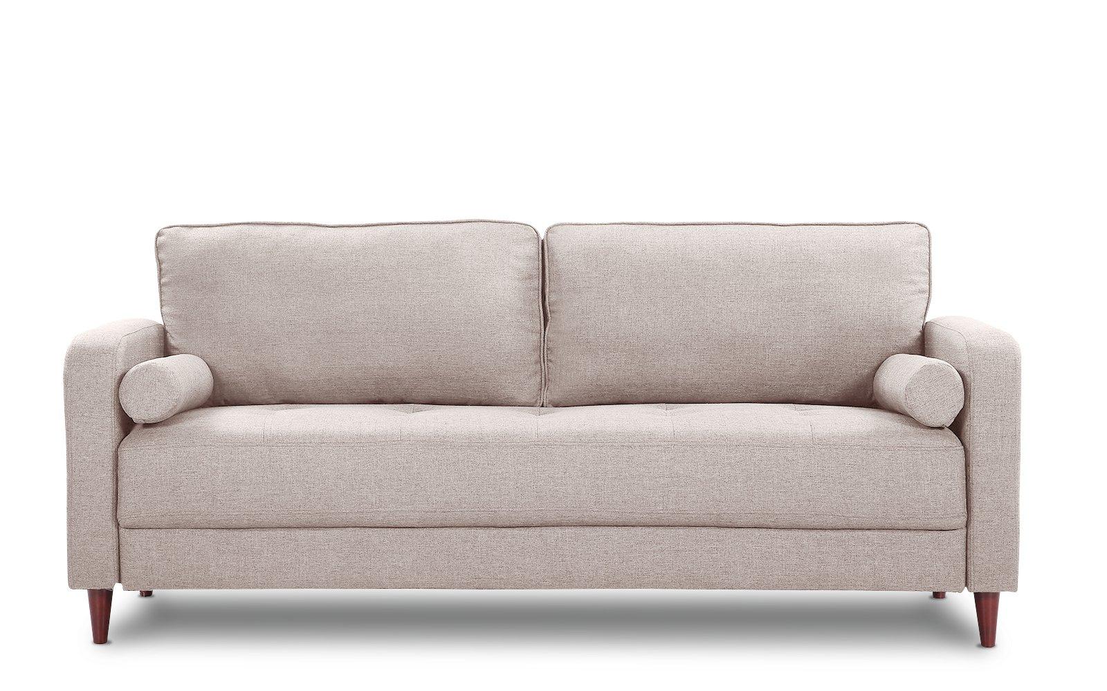 Sofas En Lugo E6d5 Lugo Classic Mid Century Modern Linen sofa sofamania