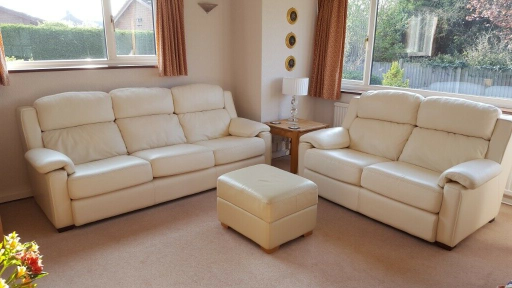Sofas En Salamanca J7do John Lewis 3 and 2 Seat Leather sofas with Small Pouffe In Peterborough Cambridgeshire Gumtree