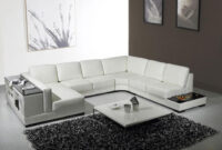 Sofas En U 3id6 White Leather U Shaped Sectional sofa with Storage Modern Living