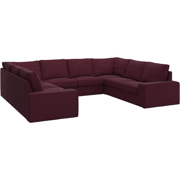 Sofas En U 87dx Kivik sofa U Shaped 8 Seater Dansbo Red Lilac 2 365 â Liked