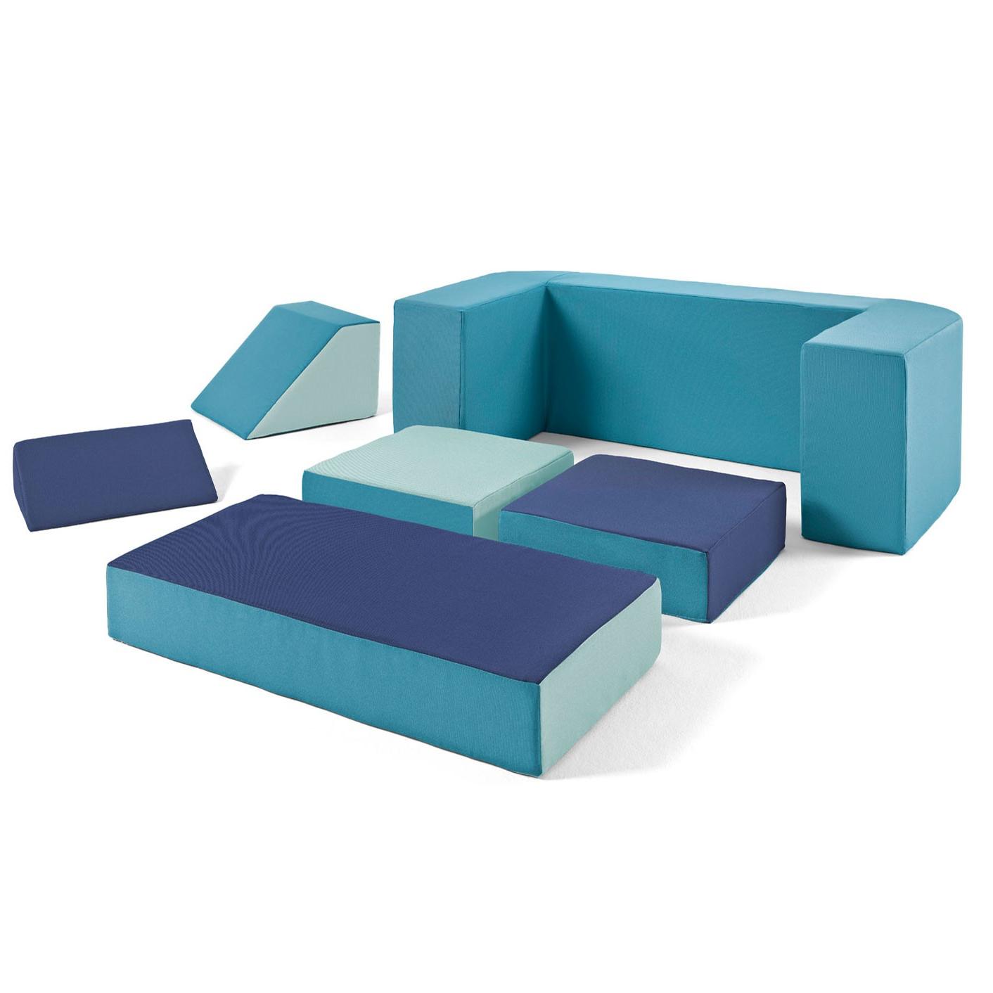 Sofas Infantiles Whdr sofà Para Nià Os Modular Puzzle Acqua Minimoi Minimoi