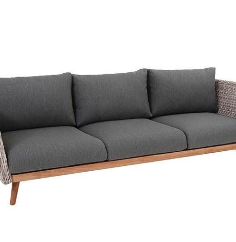 Sofas Jardin Mndw sofà De Jardà N De 3 Plazas Cancà N Gris Jaspeado Sillones sofà S Y