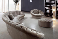 Sofas Leon Fmdf Leon Fabric Sectional sofa Chair and Round Ottoman Fabric