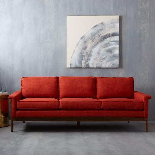 Sofas Leon Irdz Leon Wood Frame sofa 82 In 2018 Interior sofa Furniture Wood