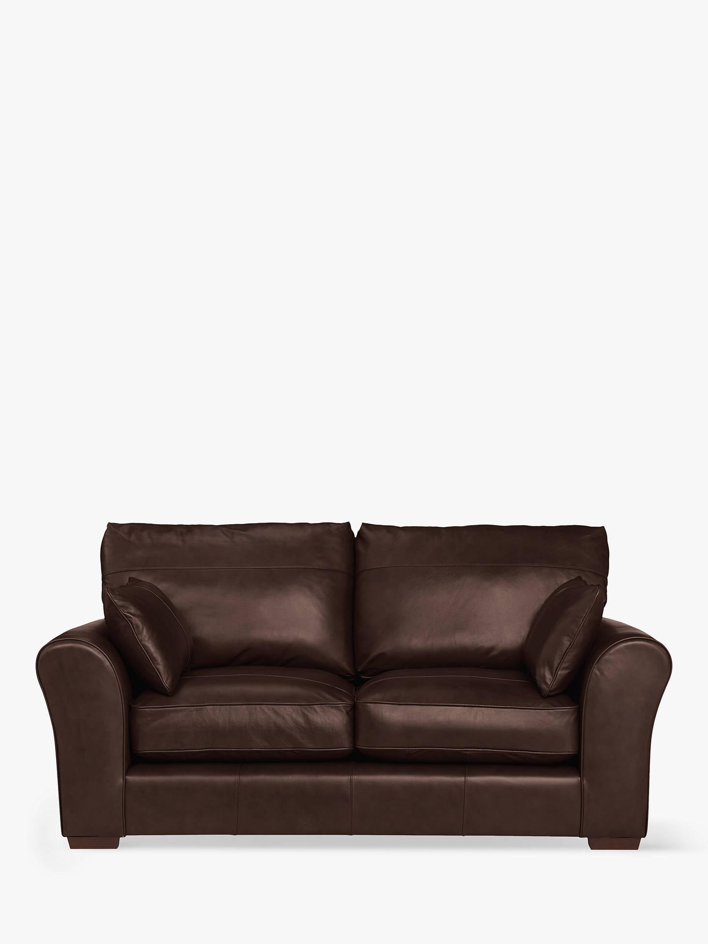 Sofas Leon Mndw John Lewis Partners Leon Medium 2 Seater Leather sofa Dark Leg