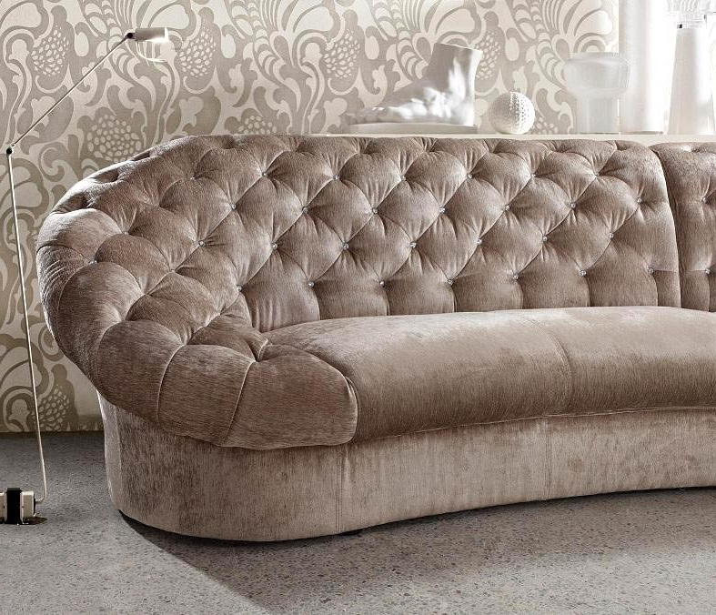 Sofas Leon X8d1 Leon Fabric Sectional sofa Chair and Round Ottoman Fabric