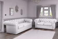 Sofas Malaga Drdp Chesterfield sofas In White Malaga Leather Ebay