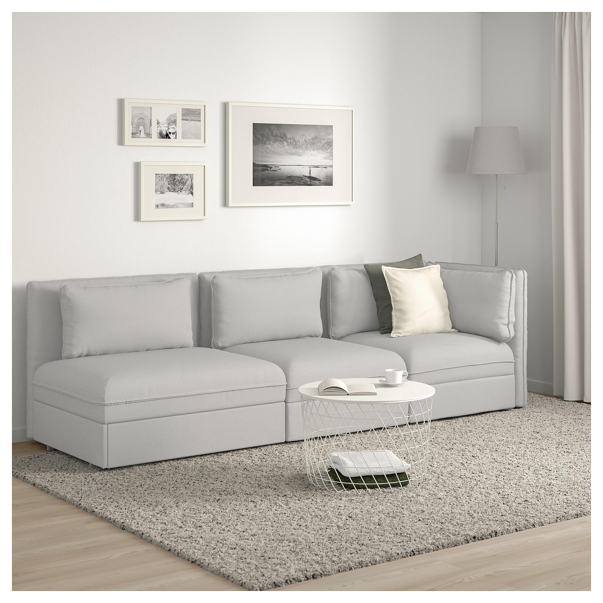 Sofas Modulares Ikea Budm Ikea Vallentuna 3 Seat Modular Sleeper sofa with Open End