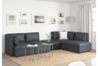 Sofas Modulares Ikea Qwdq 4 Seat Modular sofa W 3 sofa Beds Vallentuna and Storage Hillared Murum Dark Grey Black