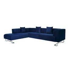 Sofas Murcia Etdg Murcia Velvet Right Hand Corner sofa Midnight Blue Home Renovation