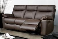 Sofas Piel 3ldq sofà Relax De Piel 3 Plazas Sharona Conforama