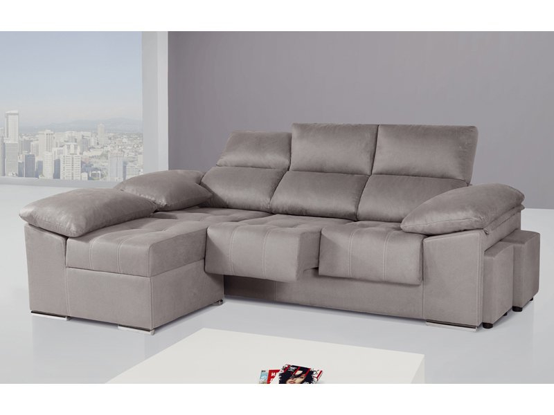 Sofas Puff Qwdq sofà De 3 Plazas Con Mà Dulo Chaise Longue Partido Y Puff Separado