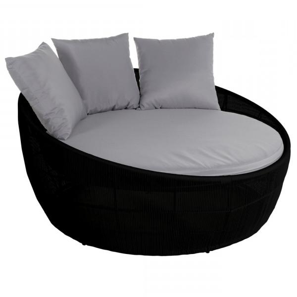 Sofas Redondos Tqd3 sofà Redondo De Rattan Negro Para Jardà N Garden A Home